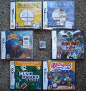 Nintendo Ds 7 Game Lot Tak Brain Age Guilty Gear Golden Eye Basketball New And Use