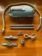 Vintage Electrolux Canister Vacuum Cleaner 30 Sled Atomic 50s Green/gray + More