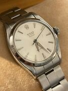 Rolex Oyster Royal Precision 6422 Watch Vintage Apx 1960 34mm Steel Manual Box