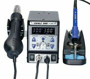 Soldering Station Hot Air Blower Gun With Adjustable Power With Accesories Tools