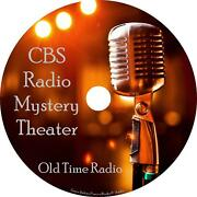 Cbs Mystery Theater Old Time Radio Shows Otr 1400+ Episodes On 21 Mp3 Discs