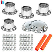 Chrome Hub Cover Semi Truck Wheel Kit Axle Cover Front And Rear Complete 33mm Lug