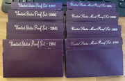 Lot Of 8 Us Mint Sets 1984-1991 Uncirculated Coin Set In Ogp