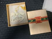 Vintage 1987 Lenox Baby's First Christmas Rocking Horse Ornament In Box