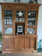Antique Country Store Cabinet Hutch Step Back Cupboard