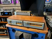 Quad Vintage And Complete Stereo System In Rare Wood Cabinets