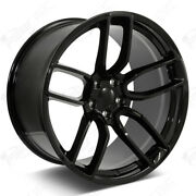 20 Stagger Flow Form Wheels Gloss Black Widebody Rims Tires Fit Challenger Rwd