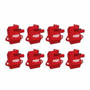 82858 Msd Pro Power Gm Ls1/ls6 Coils, 8-pack, Red