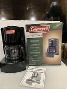 Coleman Camping Black 10-cup Drip Coffee Maker Model 5008 Series , New