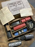 Vintage Marx Stream Line Electric Train In Original Box With Track And Extra Cars