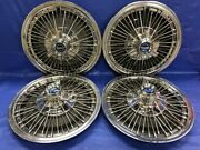 """Very Rare Vintage Set Of 4 1967 Ford Mustang 15"""" Spoke Hubcaps"""