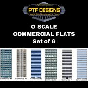 O Scale Commercial Building Flats Set Of 6 Skyscrapers - Mth Lionel Atlas