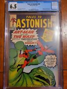 Tales To Astonish 44 Cgc 6.5 1963 1st App. And Origin Wasp Cream To Off White