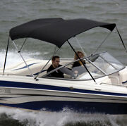 Shademate Ov80321or Black Poly 4-bow Bimini Top8and039l54h61-66w-new-ship24hrs