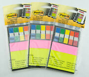 3m Post-it 3 Pack Lot Notes And Flags Organizer Notebook Sets 300 Flags 150 Notes