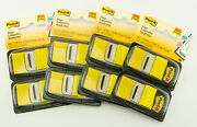 3m Post-it 4 Pack Lot Yellow Flags 100ea Pk 400 Total Flags 1 Wide 1.7 Length