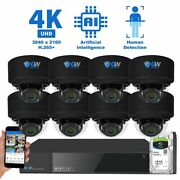 8ch Nvr 8 4k Microphone 2.8-12mm Varifocal Ip Poe Dome Security Camera System
