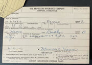 1946 Mickey Harris Signed Life Insurance Policy Boston Red Sox All Star D.1971