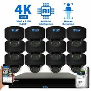 16ch Nvr 12 4k Microphone 2.8-12mm Varifocal Ip Dome Security Camera System