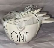 New Vhtf Rae Dunn White Measuring Cups With Handle Ceramic