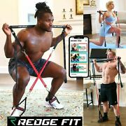 Redge Fit Complete Portable Home Gym Workout Set Resistance 6 Bands Beginners