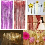 Shimmer Foil Door Curtains 1m X 2m For Party Decorations Supplies Pack Of 50