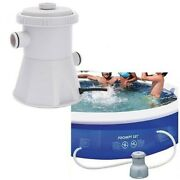 Electric Swimming Pool Filter Pump Water Cleaning System For Above Ground 300gal