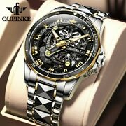 Automatic Watch Men Skeleton 2020 New Oupinke Top Brand Male Luxury Watches Mens