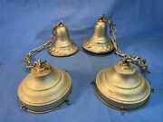 2 Vintage Ceiling School House Swag Lamps Hall Fixture No Globe Need Rewired Dc2