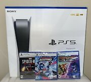 Ps5 - Playstation 5 Console Disc Version Bundle 3 Games Fast Shipping 🚀📦