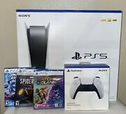 Ps5 - Playstation 5 Console Disc Version Bundle 3 Games And Xtra Controller 🚀📦