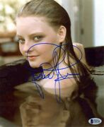Jodie Foster Foxes Autographed Signed 8x10 Photo Beckett Authentic Bas Coa