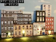 O Scale 8 Apartment Building Flats 2 Scratch Built 3d Collage- Led Backdrop Mth