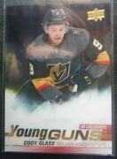 2019-20 Young Guns Clear Cut Exclusives Rookie Cody Glass Rc Vegas Ssp 2020 Ud