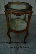 61102 Antique Louis Xv Hand Painted Curio Cabinet China Display Case