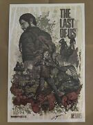 Last Of Us 1 Signed Pax 2012 Poster Art Print Lithograph Ellie Rare Part 2 Ii