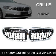 Front Grille Grill Chrome For Bmw 5 Series G30 G38 520i 530i 540i 2017-2019 Rs
