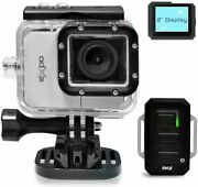 Pyle Expo Sports Action Camera - Hd 1080p Mini Hi-res Camcorder W/ Wifi, Gray