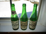 Lot Of 3 Vintage Oand039keefeand039s Extra Old Stock Ale 12 Oz. Beer Bottles Green D
