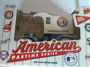 Montreal Expos Die-cast Metal Bank Car Ertl New 1993 With C.o.a. Nice