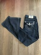 True Religion Brand Women's Low-rise Boot-cut Hi-rise Med Wash Jeans-size 25