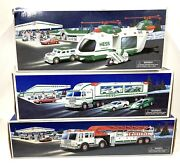 1977 2000 2001 Hess Trucks Fire Carrier Racecars Helicopter. Mip