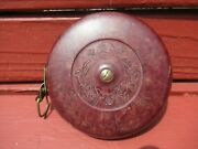 Vintage Whale Brand 50ft/15m Cloth Tape Measure With Crack And Rip / Chinese