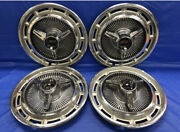 Vintage Set Of 4 1965andndash67 Chevrolet Spinner Ss 14andrdquo Hubcaps Impala Chevelle Chevy2