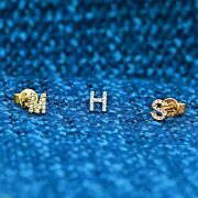 Social Value 14k/18k Solid Gold Diamond Initial Letter Alphabet Mix And Match