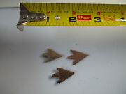 3 Plow Bird Points Authentic Artifact Points, Texas, East Texas...mm
