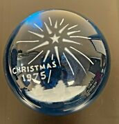 Wheaton Village Christmas Of 1975 Paperweight Numbered 402/500