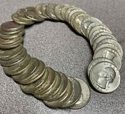 Roll Of 90 Silver Washington Quarters - 10 Face Value - Nice Condition