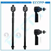 Eccpp 4pcs Inner Outer Tie Rod End Steering Parts Fits Geo Prizm Toyota Corolla