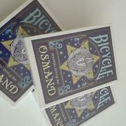 Bicycle Osmand Mahou Dining Bar Collectible Playing Cards Blue 3 Decks Unopened